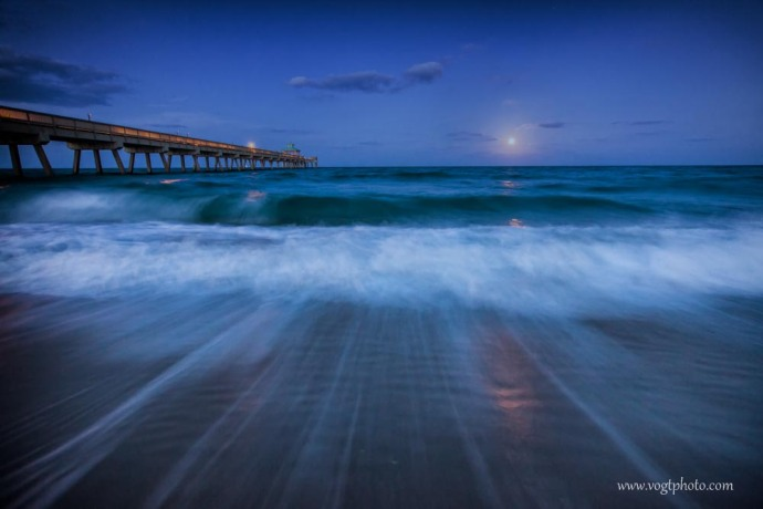 20130425-Moonrise at the Pier-01-w