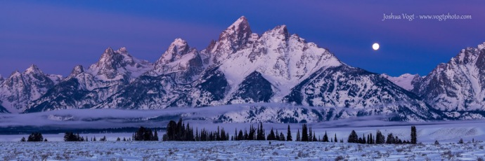 20140117-Grand Teton Moonset - w